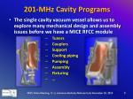 201 mhz cavity programs5