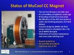 status of mucool cc magnet