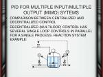 pid for multiple input multiple output mimo sytems