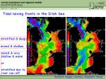 tidal mixing fronts in the irish sea