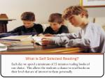 what is self selected reading