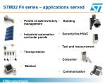 stm32 f4 series applications served