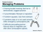female condoms managing problems