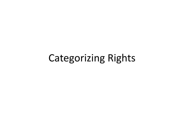 categorizing rights n.