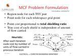 mcf problem formulation