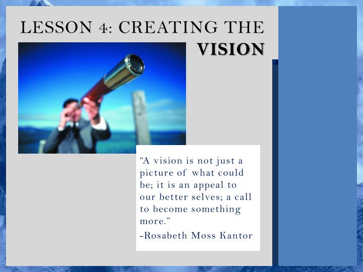 lesson 4 creating the vision n.