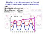 the effect of new diagnosis gusts on forecast quality of cosmo eu s gusts over germany