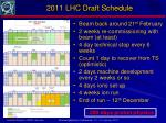 2011 lhc draft schedule
