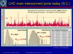 lhc main interconnect joints today s c