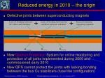 reduced energy in 2010 the origin