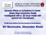 nir benmoshe alexander khain atmospheric science department the hebrew university in jerusalem