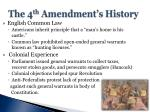 the 4 th amendment s history