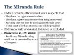 the miranda rule