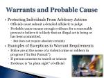 warrants and probable cause