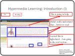 hypermedia learning introduction i