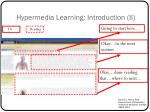 hypermedia learning introduction ii