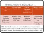 metacognition motivation ii
