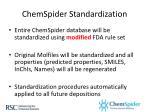 chemspider standardization