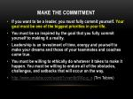 make the commitment