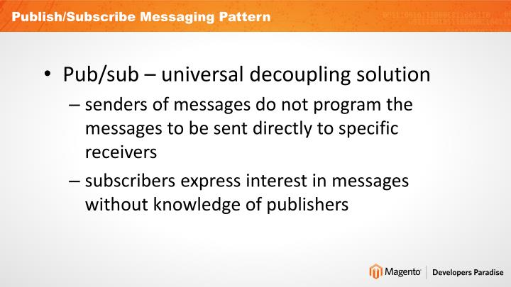 Publish/Subscribe Messaging Pattern