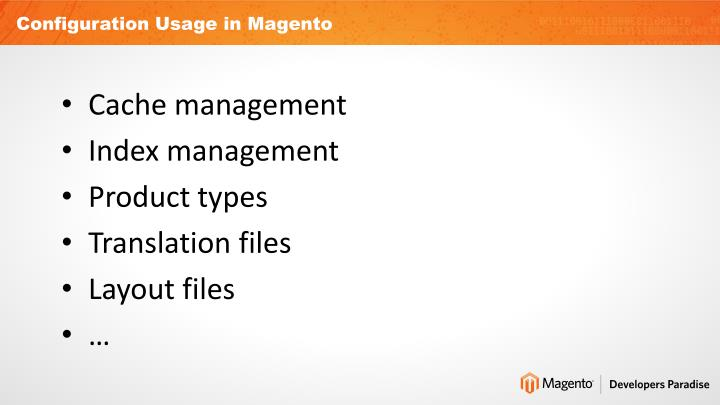 Configuration Usage in Magento