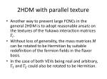2hdm with p arallel texture
