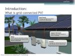 introduction what is grid connected pv