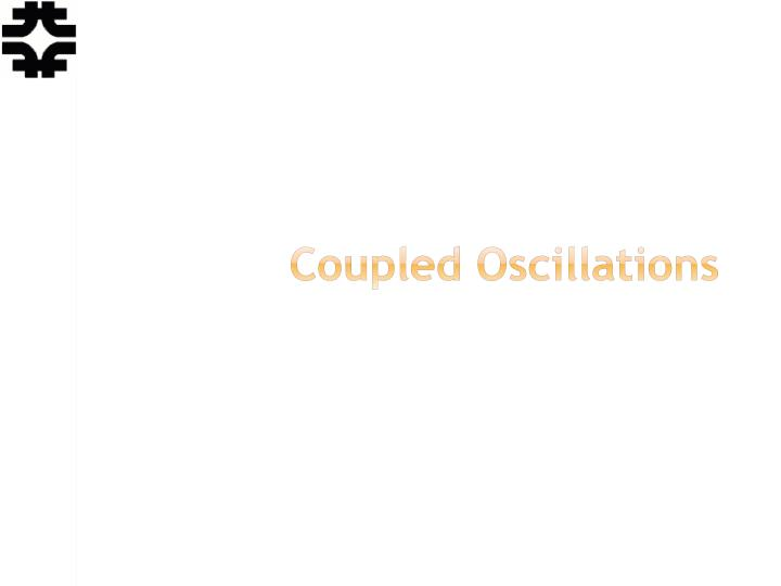 coupled oscillations n.