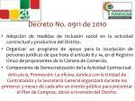 decreto no 0911 de 2010