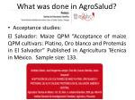 what was done in agrosalud1