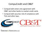compucredit and cb t
