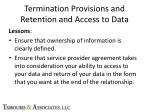 termination provisions and retention and access to data4