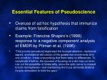essential features of pseudoscience