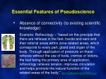 essential features of pseudoscience5