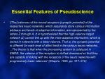 essential features of pseudoscience8
