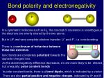 bond polarity and electronegativity