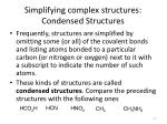 simplifying complex structures condensed structures