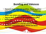 bonding and valences1