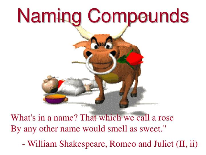 naming compounds n.