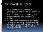 the samaritans cont
