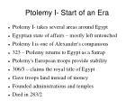 ptolemy i start of an era