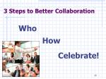 3 steps to better collaboration