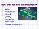 how this benefits organizations