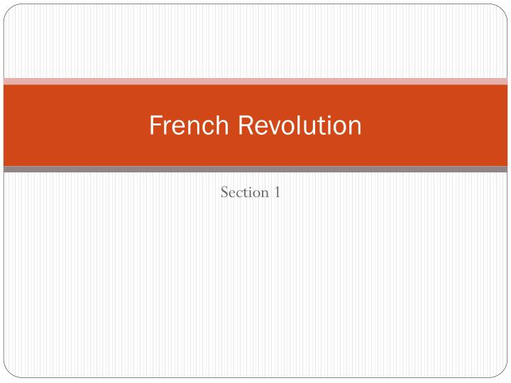 french revolution n.