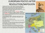 european poltics after revolution napoleon