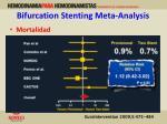 bifurcation stenting meta analysis