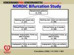 nordic bifurcation study