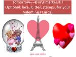 tomorrow bring markers optional lace glitter stamps for your valentines cards