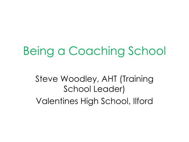 being a coaching school n.