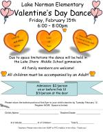 lake norman elementary valentine s day dance friday february 15th 6 00 8 00pm